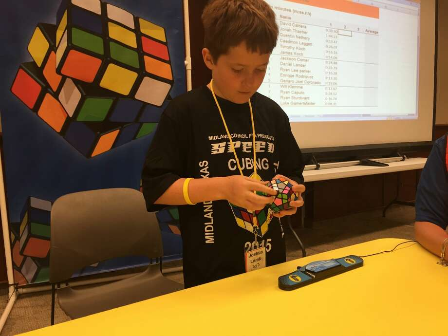 "Recognizing how the cube has established a grip on the passions and free time of kids, the Midland Council PTA arranged a speed ""cubing"" competition Sunday at First Presbyterian Church to showcase the activity."