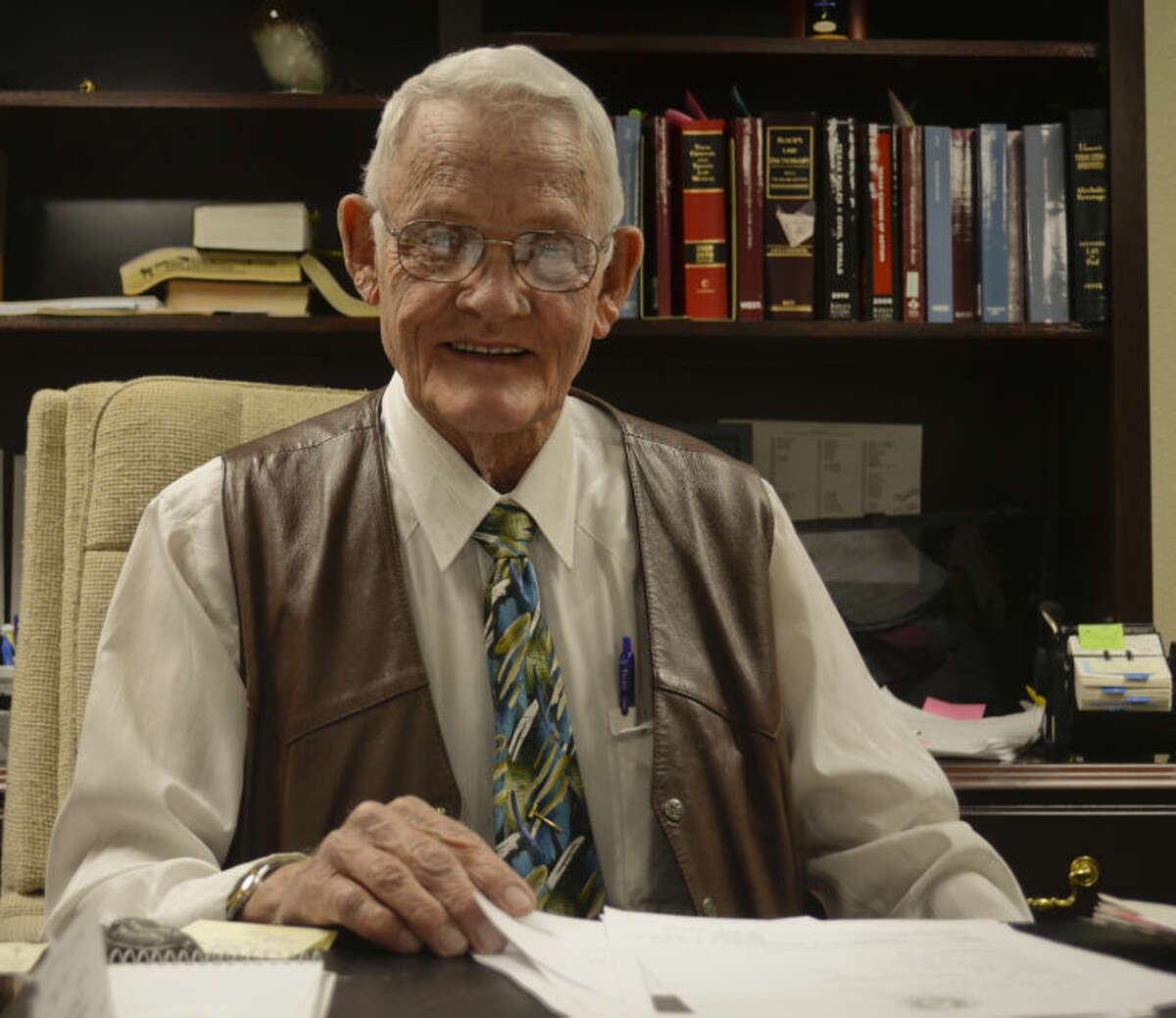 George Zimmerman, Justice of the Peace Precinct 4, will be retiring after 18 years of service. Tim Fischer\Reporter-Telegram