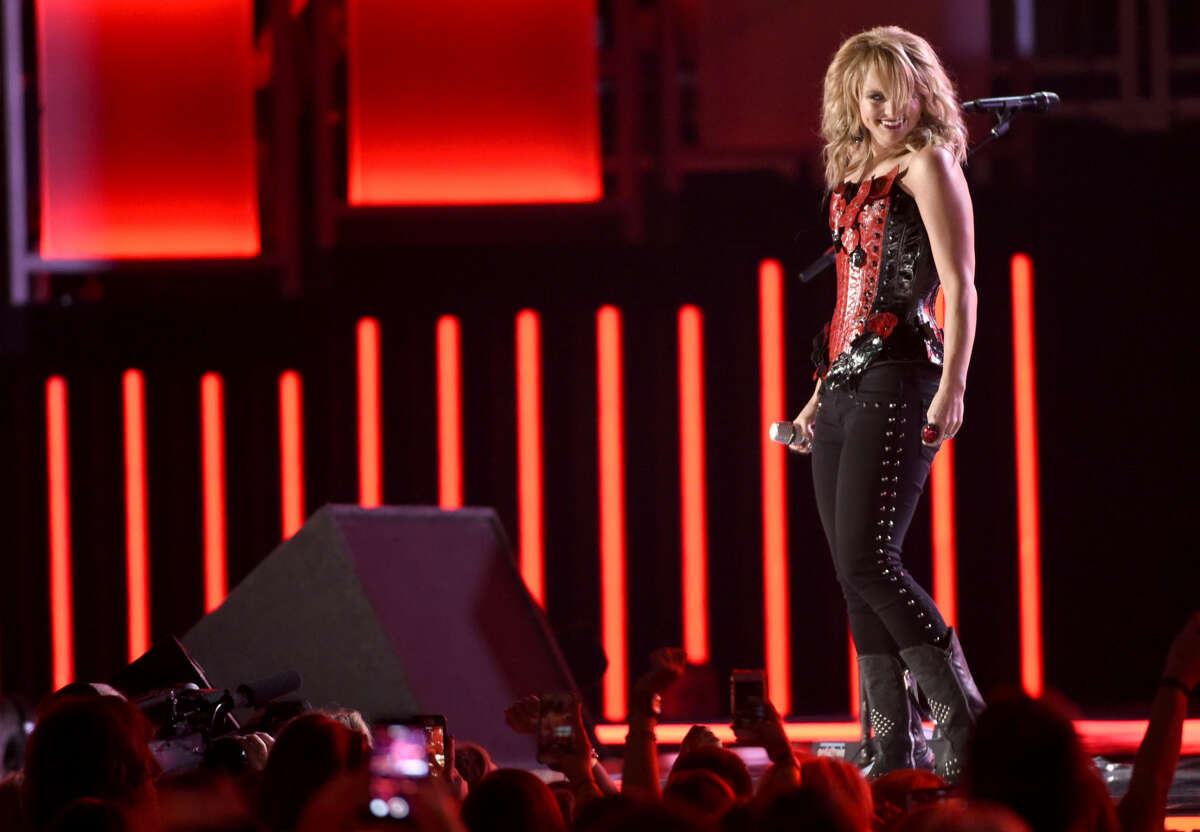 Miranda Lambert performs at the 50th annual Academy of Country Music Awards at AT&T Stadium on Sunday, April 19, 2015, in Arlington, Texas.