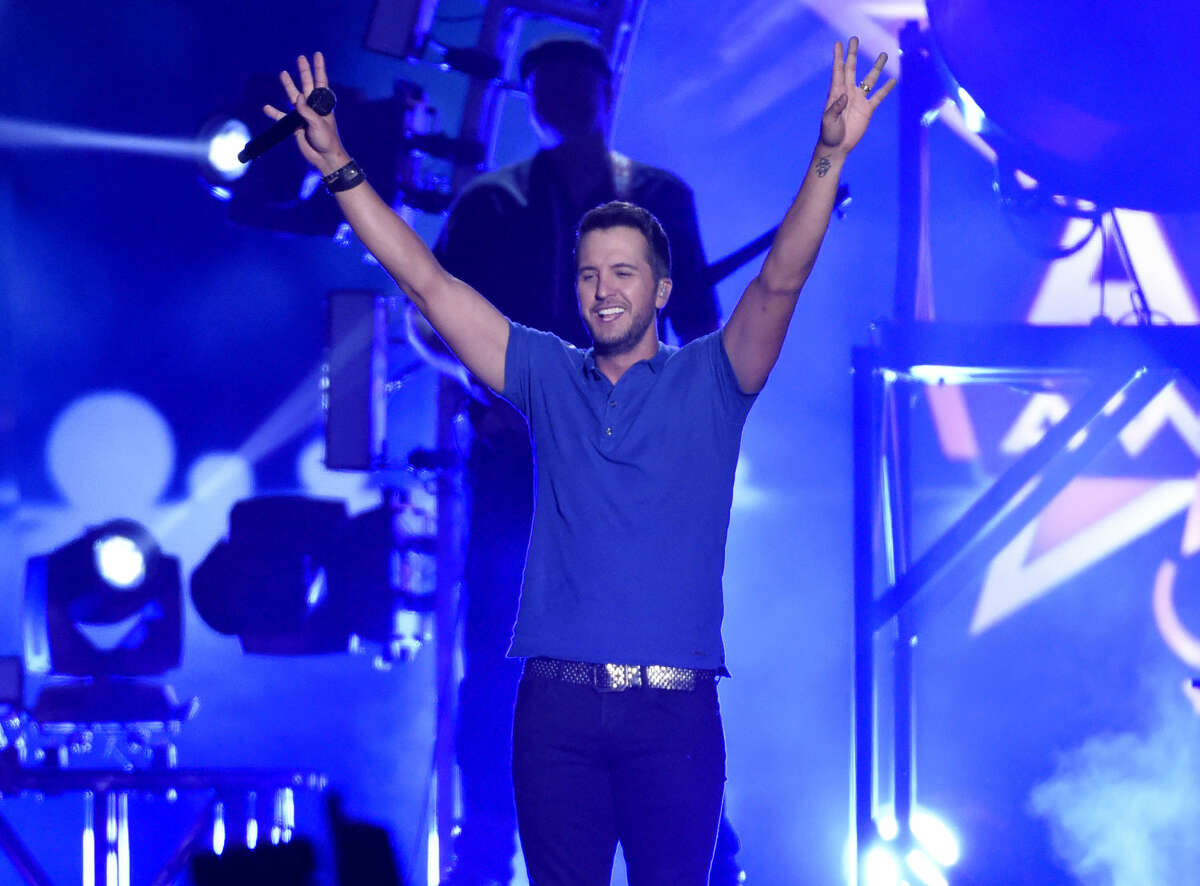 Luke Bryan performs at the 50th annual Academy of Country Music Awards at AT&T Stadium on Sunday, April 19, 2015, in Arlington, Texas.