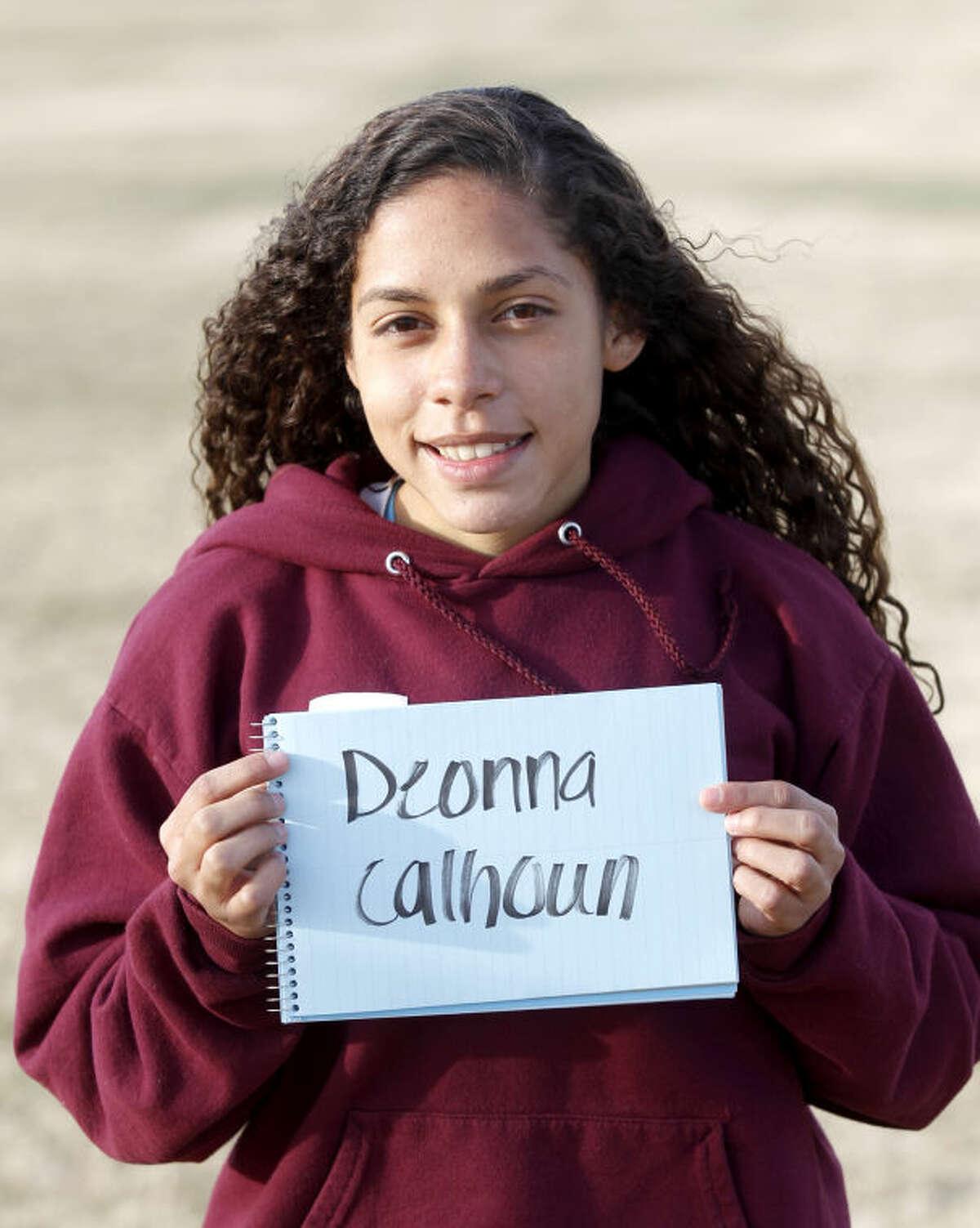 Lee Varsity girls soccer player Deonna Calhoun photographed Jan 7, 2014. James Durbin/Reporter-Telegram