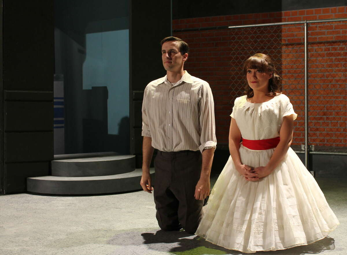 Tyler Lillestol and Sara Hone play ill-fated lovers in Midland Community Theatre's 'West Side Story.'