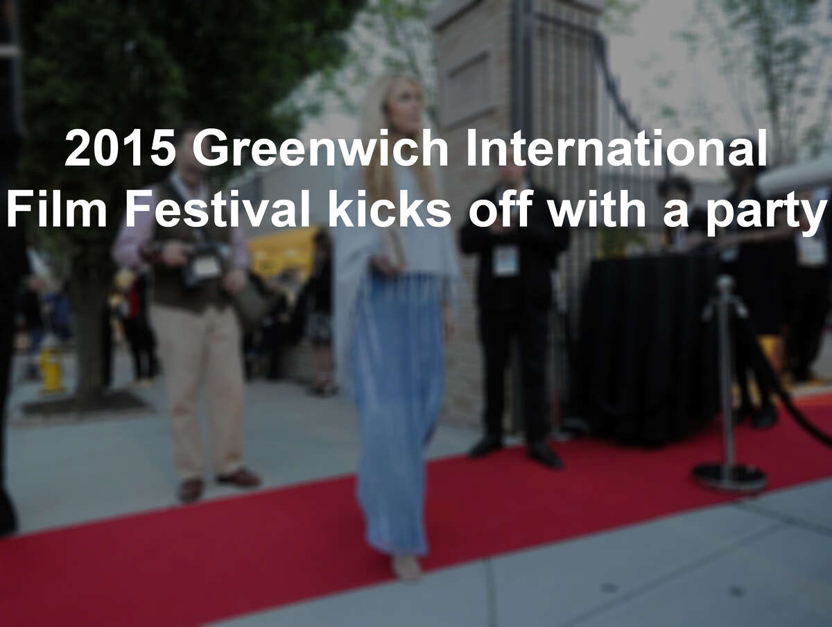 At center, Michele Ross, who owns a store on Greenwich Avenue, attended the opening night party for the Greenwich International Film Festival at Restoration Hardware on Greenwich Avenue.