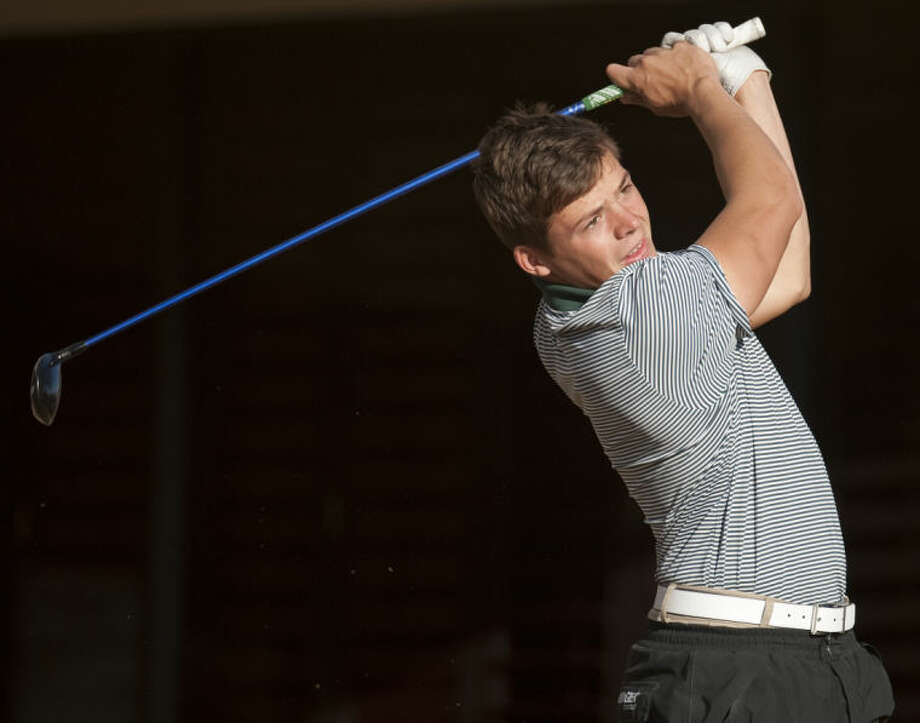 Midland College's David Wicks watches his shot at the Omega Treating Chemical Invitational Golf Tournament at Green Tree Country Club in March. Tim Fischer\Reporter-Telegram Photo: Tim Fischer