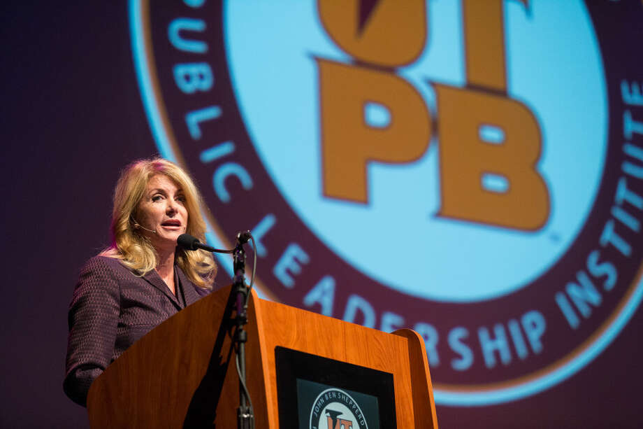 "Former gubernatorial candidate Wendy Davis gave a lecture called ""Educating Texas: Complex Challenges-New Perspectives"" at the Wagner Noel Performing Arts Center on Tuesday in Midland, Texas, as part of the John Ben Shepperd Public Leadership Institute Distinguished Lecture Series. Photo: Courtney Sacco"