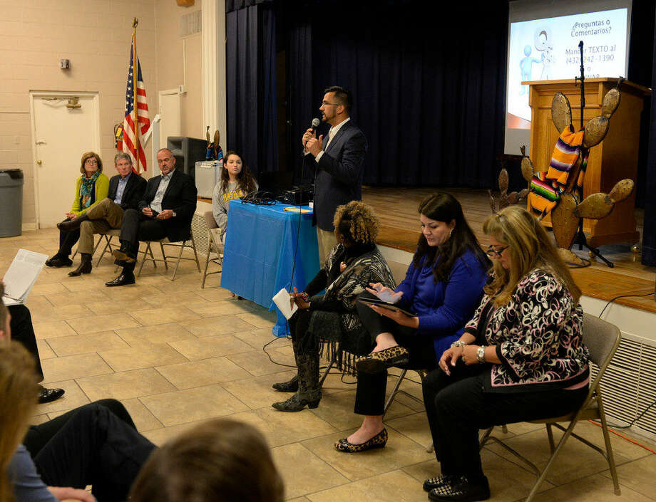 public meeting on the Educate Midland community collaboration, Tuesday, April 12, 2016, at the Hispanic Cultural Center. James Durbin/Reporter-Tele­gram