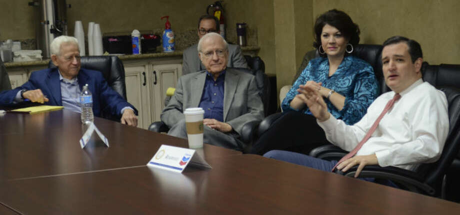 Senator Ted Cruz talks with area small business leaders at roundtable discussion Thursday morning at the Chamber of Commerce. Tim Fischer\Reporter-Telegram Photo: Tim Fischer
