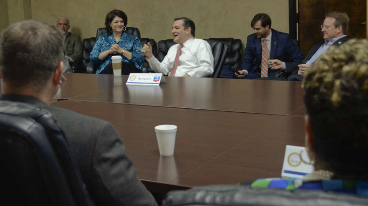 Senator Ted Cruz talks with area small business leaders at roundtable discussion Thursday morning at the Chamber of Commerce. Tim Fischer\Reporter-Telegram