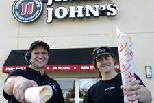 John Gilchrist, left, and Kevin Burrell, right, are the owners and managers of the newly-opened Jimmy Johns located on Midland Drive. The two met while working at a Jimmy John's in Austin. James Durbin/Reporter-Telegram