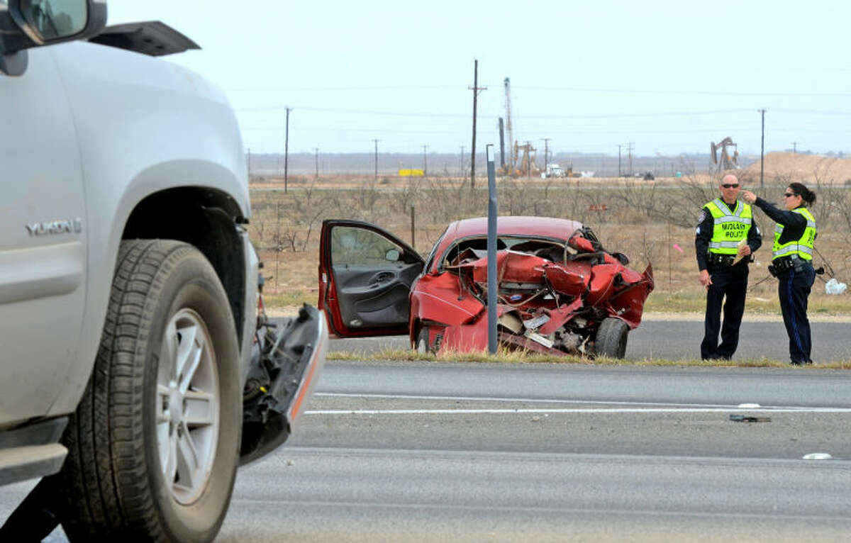 One man was transported to Midland Memorial Hospital after a two-vehicle accident on eastbound TX-191 near the FM 1788 exit Saturday. James Durbin/Reporter-Telegram