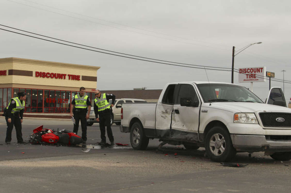 A motorcyclist was critically injured Saturday following a two-vehicle crash on Rankin Highway. Tyler White/Reporter-Telegram