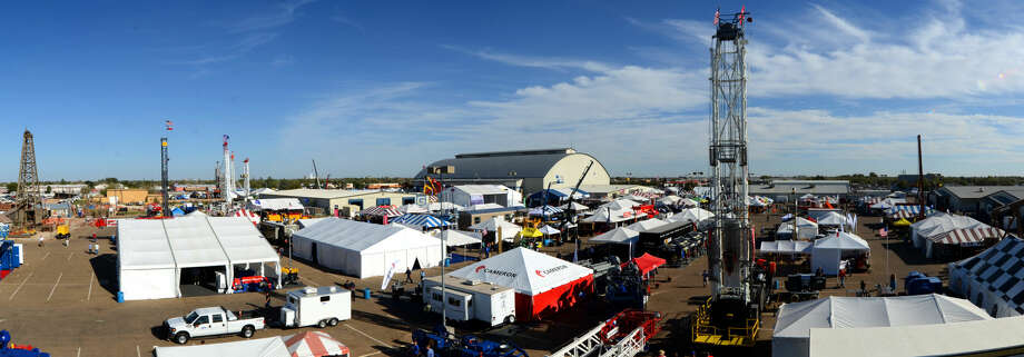 Panoramic view of the 2012 Permian Basin International Oil Show from a Mustang HD600 oil rig built by Rig Works for Globe Energy Services. James Durbin/Reporter-Telegram