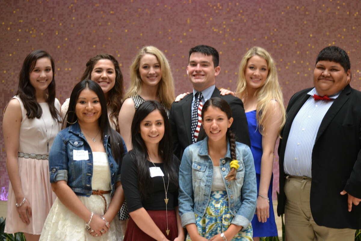Midland Teen Court presented scholarships Thursday to some of its student volunteers. They are: Keely Martin, from left in back row, Isabella Zenteno, Breanna LaFoy, Wilson Clark, MeKelee LaFoy and Ariel Rodea; and Emily Garcia, from left in front row, Regan Raines and Frances Jimenez. Not pictured is Allison Hymel.