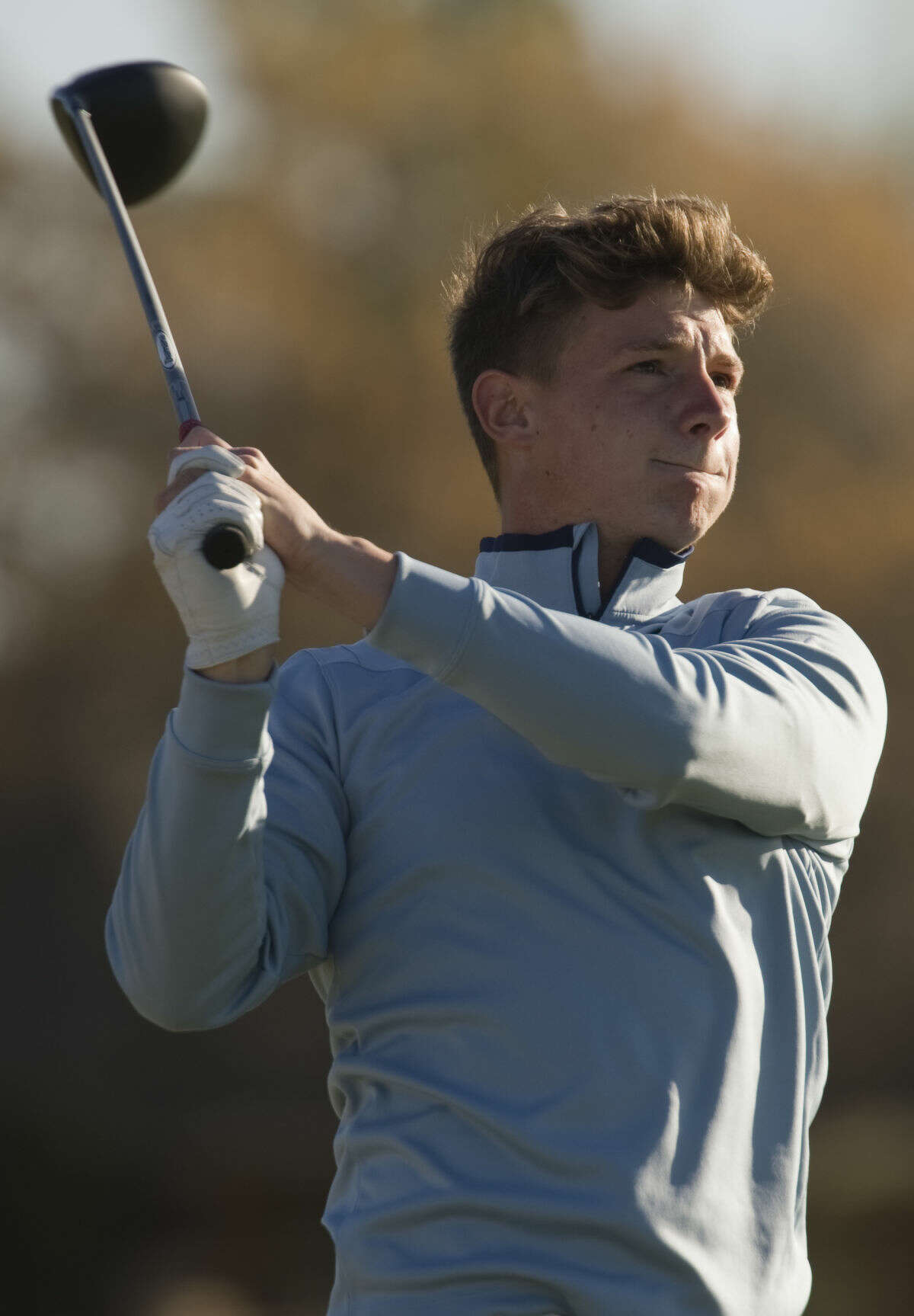 Midland College's Ben Murray follows his shot Tuesday 03-15-16 during the second day at Greentree Country Club in the Omega Treating Chemicals Invitational. Tim Fischer\Reporter-Telegram