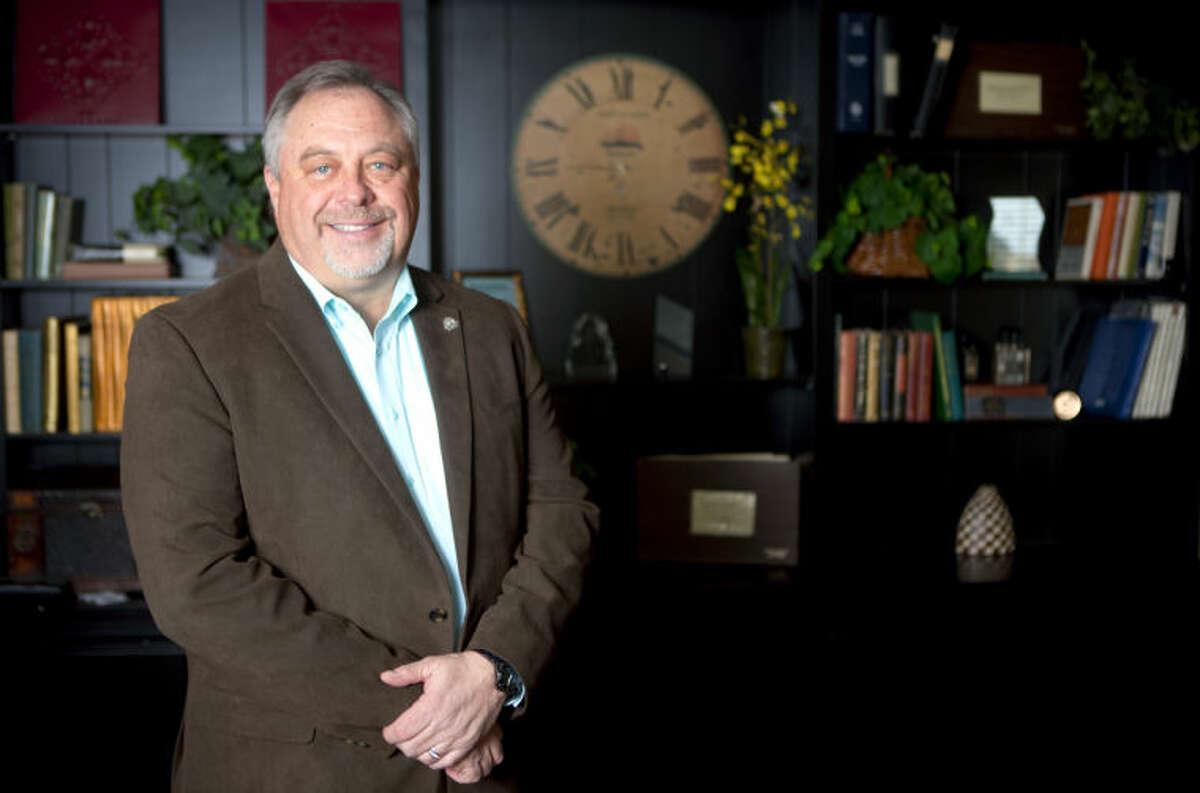 Brian Sales, President of the Permian Basin Board of Realtors, in portrait Feb. 6, 2014 at the PBBR office. James Durbin/Reporter-Telegram