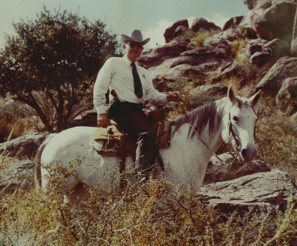 Al Mitchell, retired Texas Ranger, seen on his horse around 1972. Tim Fischer\Reporter-Telegram
