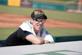 Former San Francisco Giants pitcher Tim Lincecum after his pitching showcase May 6 at Scottsdale Stadium in Scottsdale, Ariz.