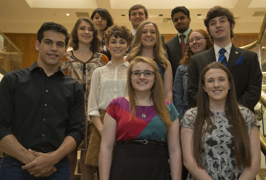 The Exchange Club honors area seniors, JaCobey Gonzales, Foster Kemp, Cassidy Hale, Meagan McQuien, Maxwell Gaddy, Miranda Martinez, Taylor Warren, Leah Dumas, Giselle Martinez, Jack Youngblood and Uzair Waheed. Tim Fischer\Reporter-Telegram Photo: Tim Fischer