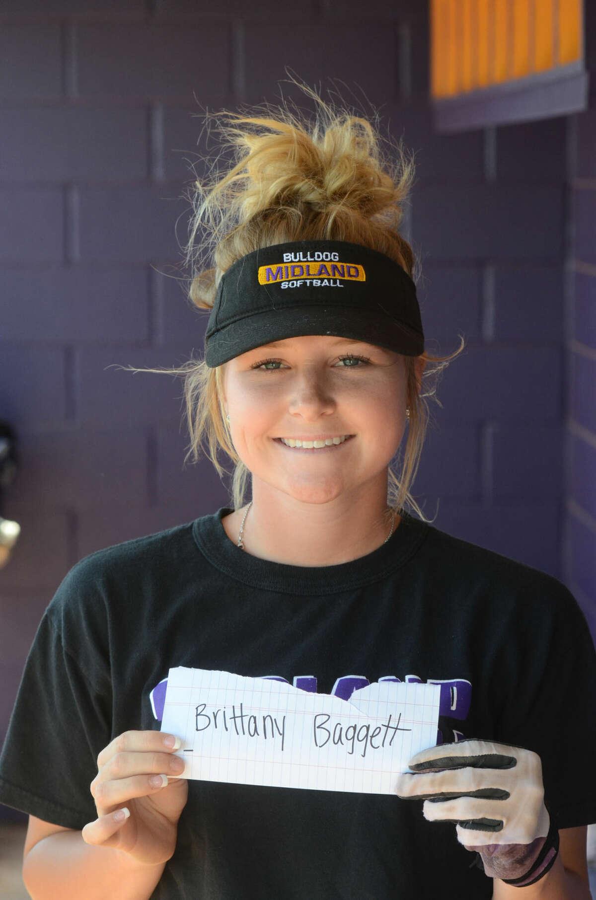 Brittany Baggett --- MHS girls softball mugs, Wednesday, March 25, 2015. James Durbin/Reporter-Telegram