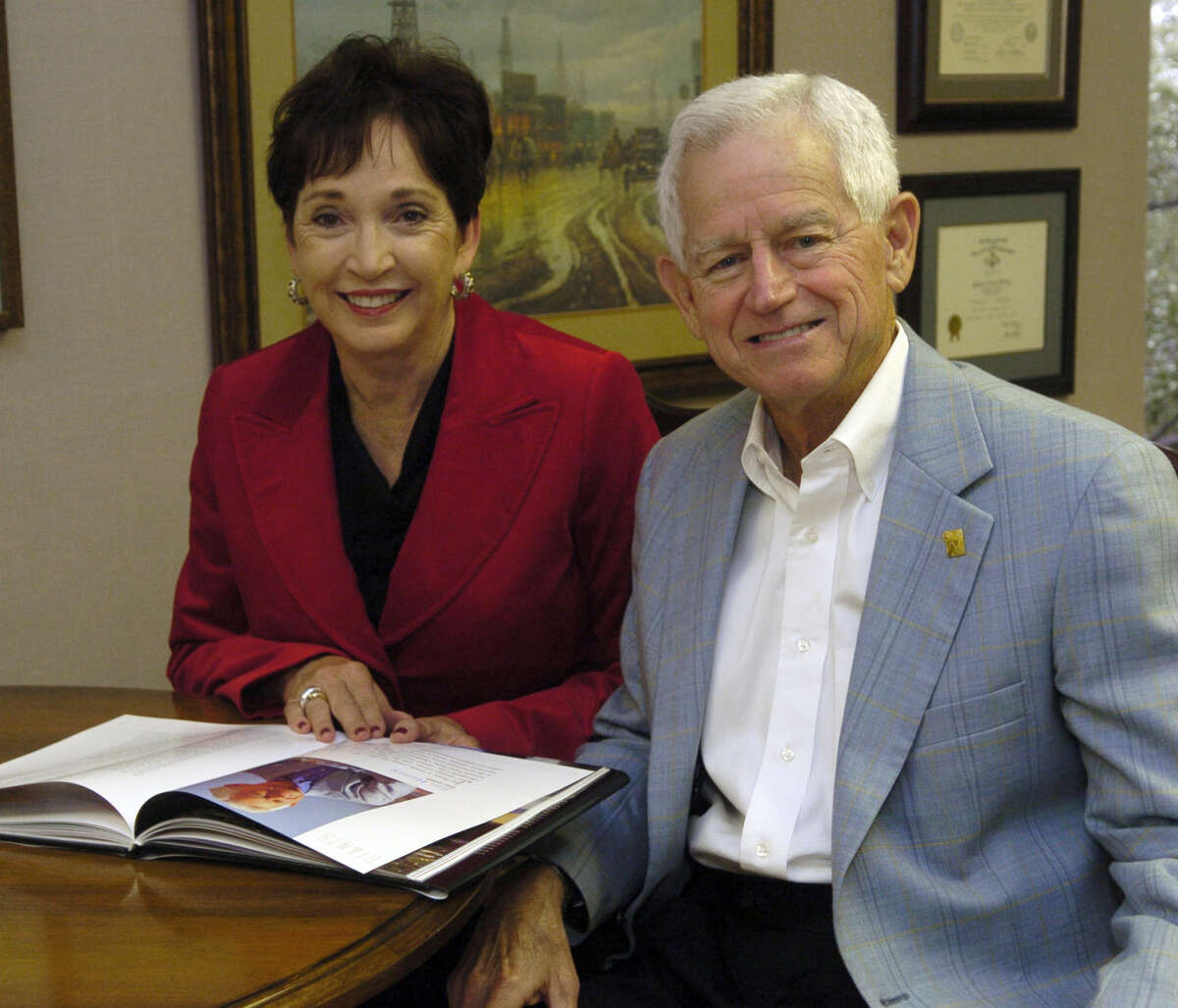 Jim and Paula Henry celebrate 40 years of Henry Petroleum in this 2009 file photo. Photo by Tim Fischer 10-21-09
