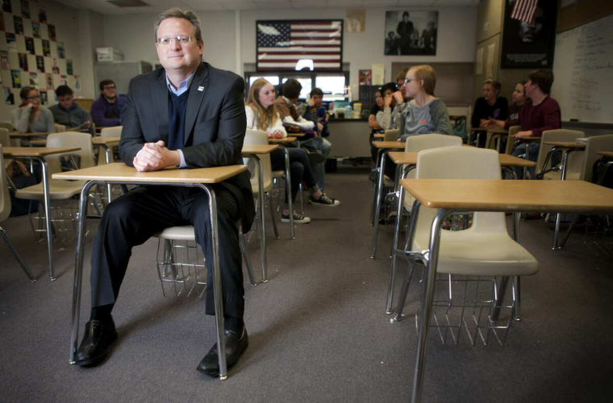 MISD Superintendent Ryder Warren in 2014 portrait at Midland High School. James Durbin/Reporter-Telegram