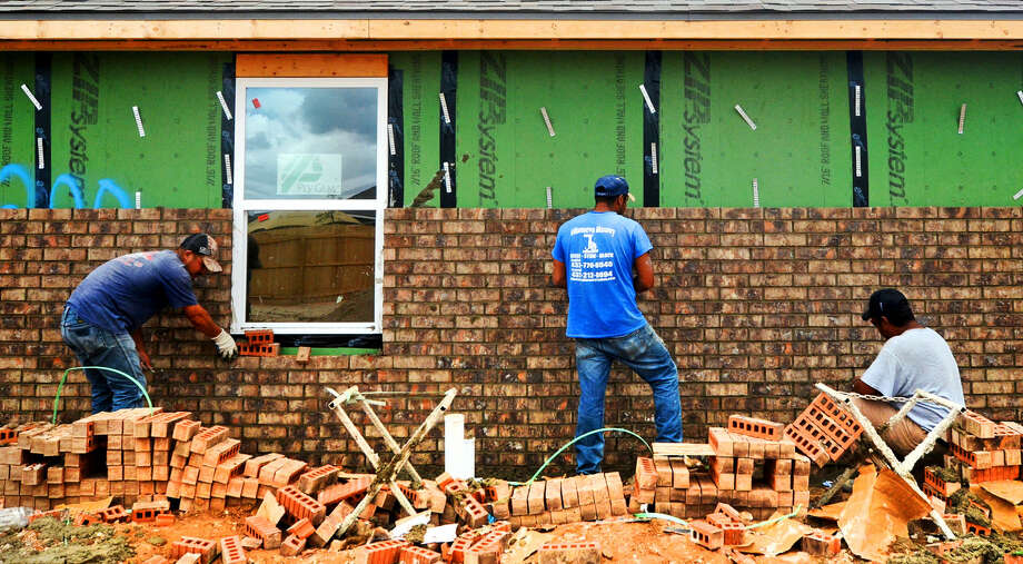 FILE - Construction at the Betenbough Homes subdivision located on Champions Drive near the sports complex. Photographed June 20, 2014. James Durbin/Reporter-Telegram