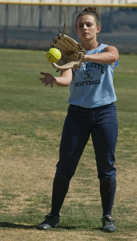 Greenwood's Kambree Ebenstein warms up Monday during practice. Tim Fischer\Reporter-Telegram Photo: Tim Fischer