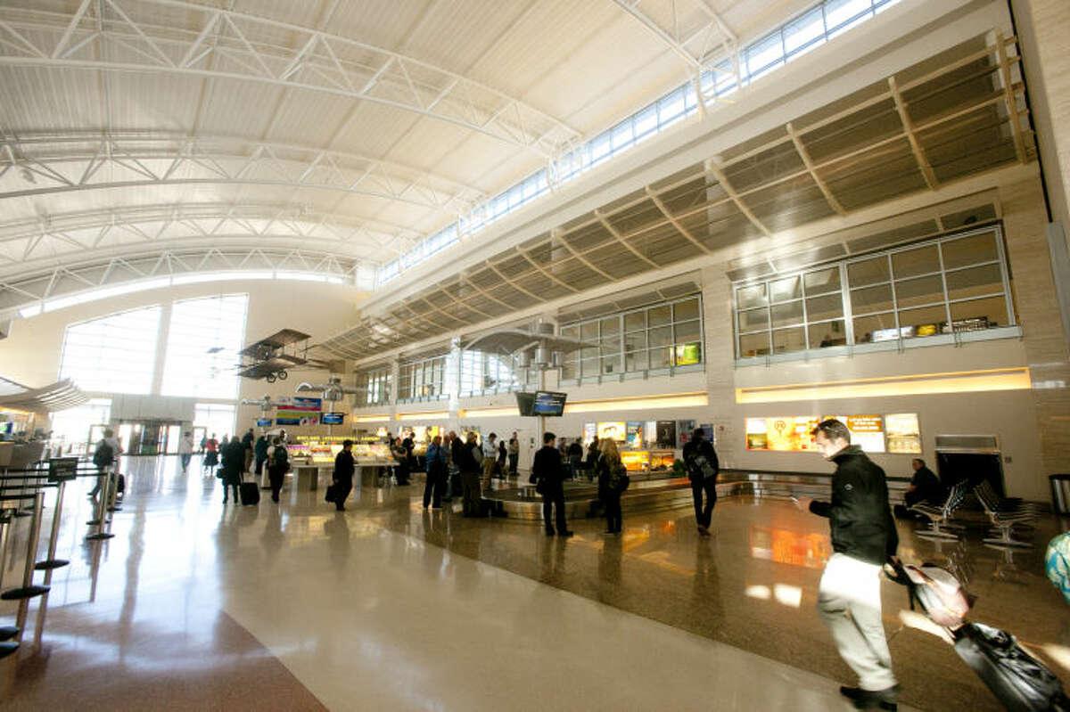 Interior view of the baggage claim at Midland International Airport, Feb. 13, 2014. James Durbin/Reporter-Telegram