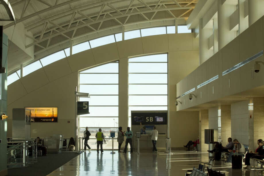 Interior view of the terminal at Midland International Airport, Feb. 13, 2014. James Durbin/Reporter-Telegram Photo: JAMES DURBIN