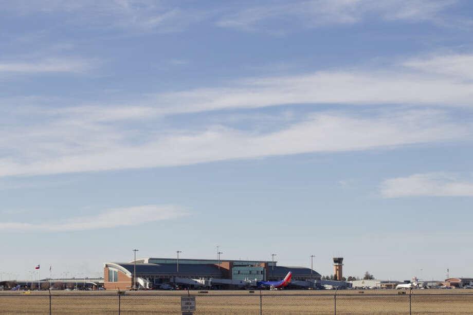 Exterior view of Midland International Airport, Feb. 13, 2014. James Durbin/Reporter-Telegram Photo: JAMES DURBIN