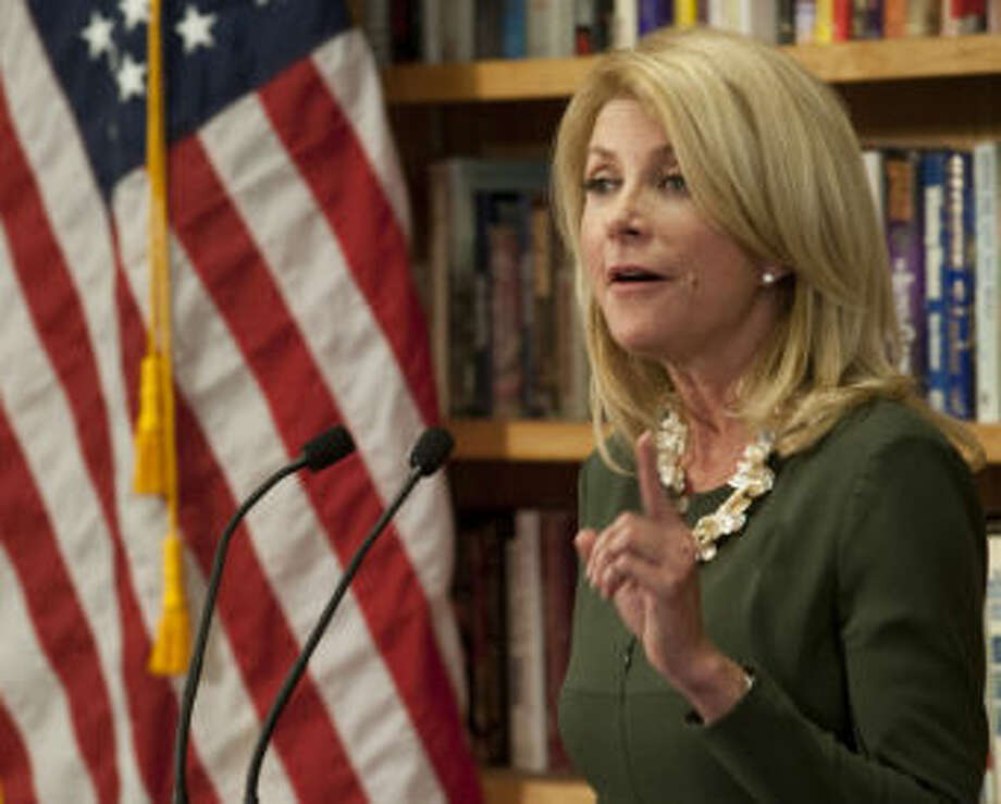 Wendy Davis speaks Wednesday during a campaign stop in Midland. Tim Fischer\Reporter-Telegram Photo: Tim Fischer