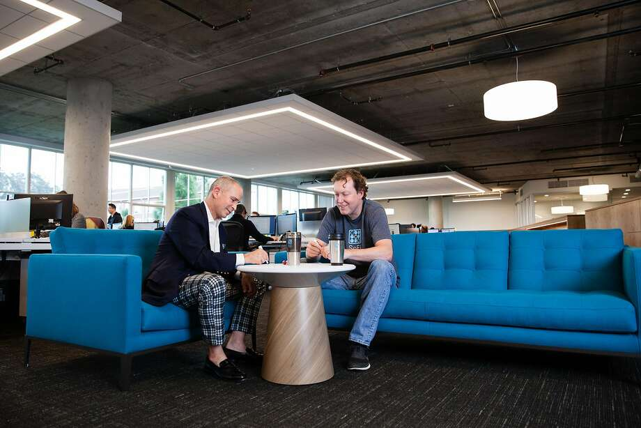 SoFi's Mike Cagney, right, has stepped down as CEO. Photo: SoFi