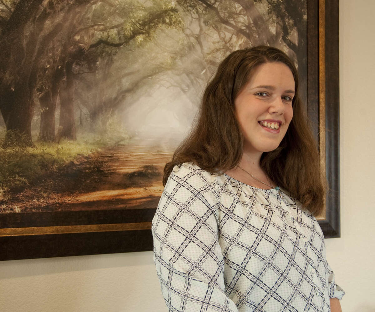 Heather Hembree, UTPB graduate and mother of three. Friday, 5-8-15, Tim Fischer\Reporter-Telegram