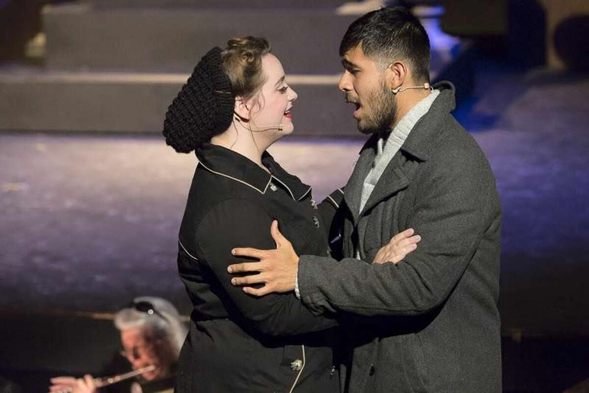 Micaela Grenier and Daniel Ramirez star as budding lovers Louise and Andre Odessa College's production of 'La Boheme.'