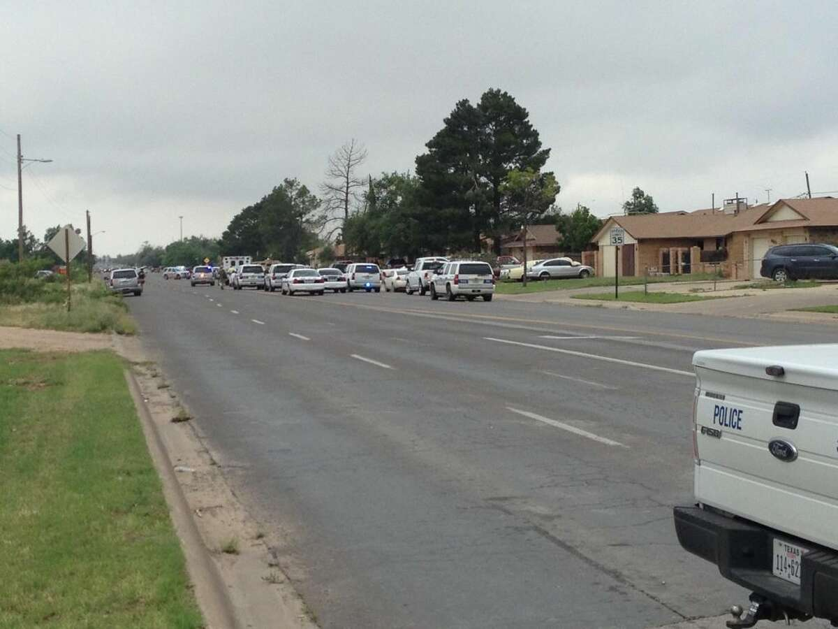 A man has barricaded himself in the attic of a home in the 4400 block of Thomason Drive.