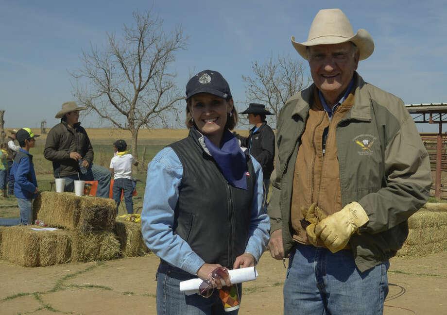 Darla Morrow and her father Roy Graham. Tim Fischer\Reporter-Telegram Photo: Tim Fischer