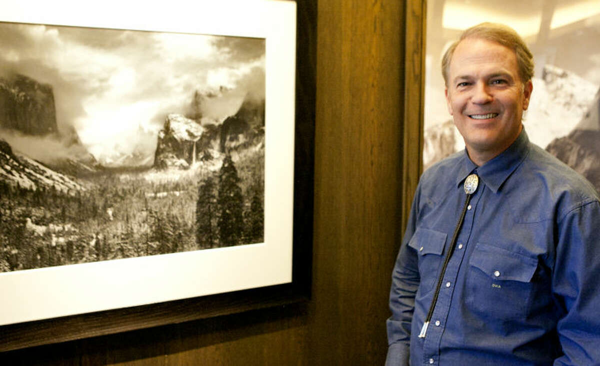 West Texas oilman David Arrington has an extensive collection of Ansel Adams prints in his downtown Midland office, photographed March 28, 2014. James Durbin/Reporter-Telegram