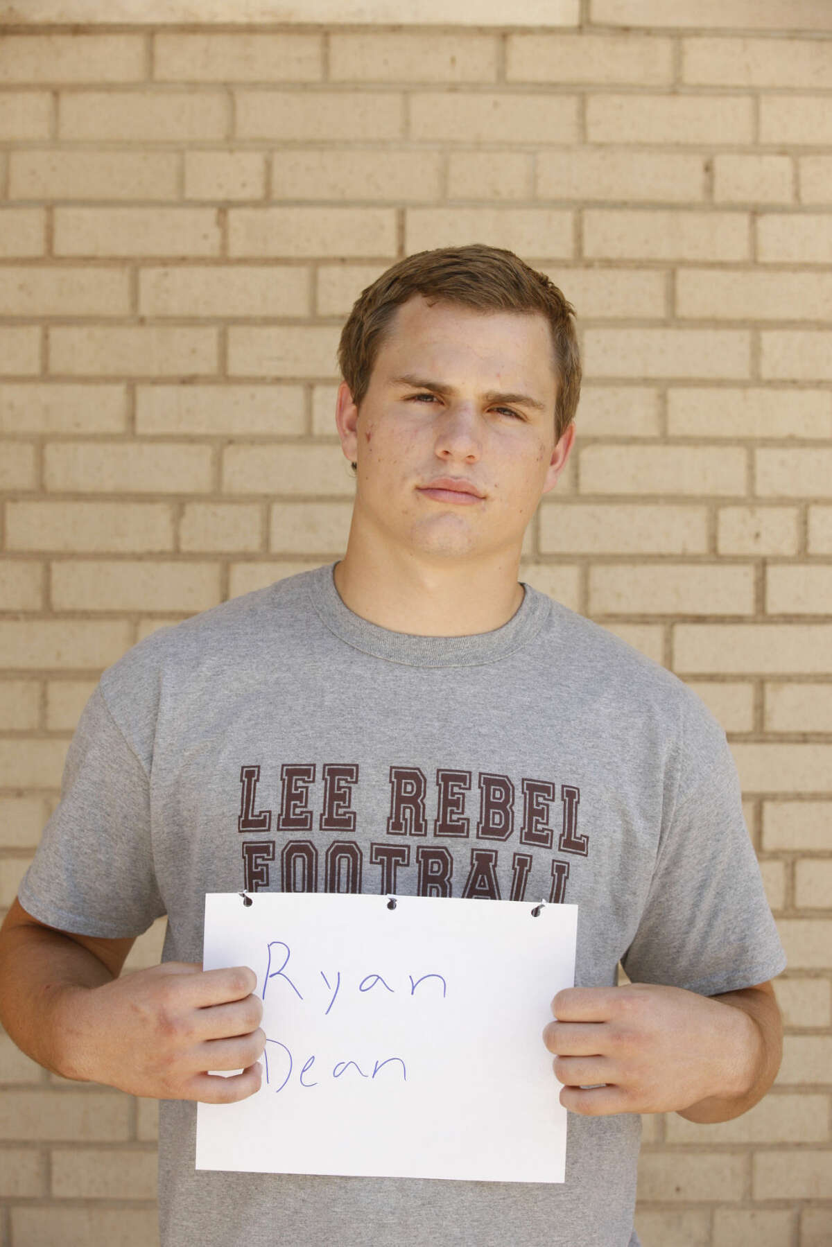 Lee High football mug Ryan Dean James Durbin/Reporter-Telegram