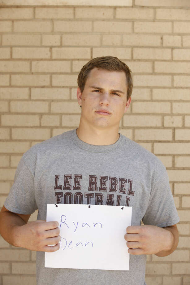 Lee High football mug Ryan Dean James Durbin/Reporter-Telegram Photo: James Durbin