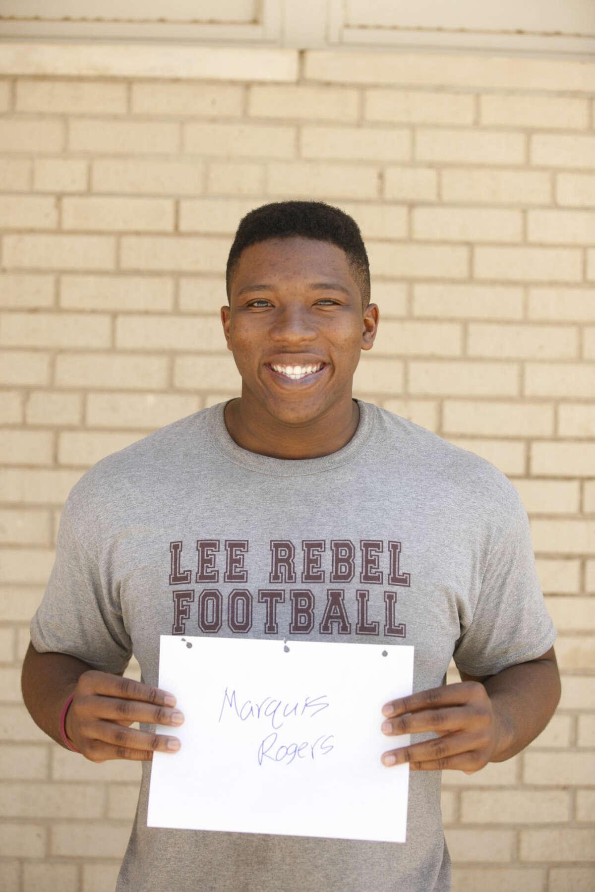 Lee High football mug Marquis Rogers James Durbin/Reporter-Telegram