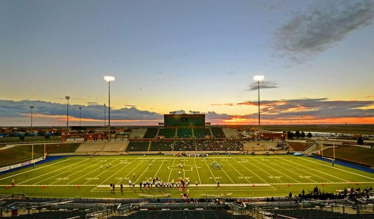 General view of Grande Communications Stadium at kickoff of the Greenwood vs Lamesa football game Saturday. James Durbin/Reporter-Telegram