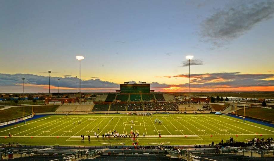 General view of Grande Communications Stadium at kickoff of the Greenwood vs Lamesa football game Saturday. James Durbin/Reporter-Telegram Photo: JAMES DURBIN