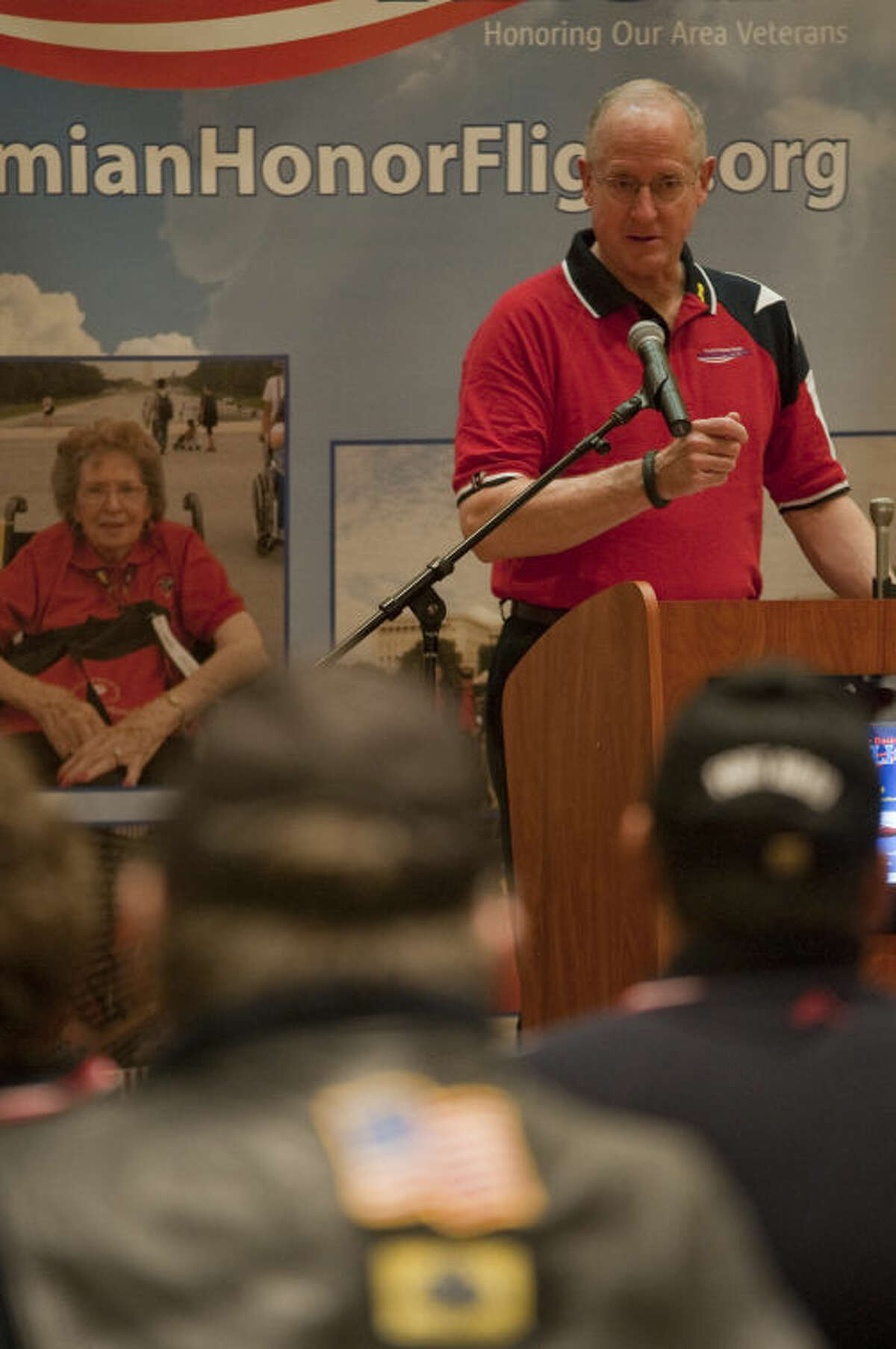 US Representative Mike Conaway spoke in January of 2014 during a press conference to raise awareness and funds for the Permian Basin Honor Flight, to honor WWII veterans with a flight to Washington DC to see the memorial. Tim Fischer\Reporter-Telegram