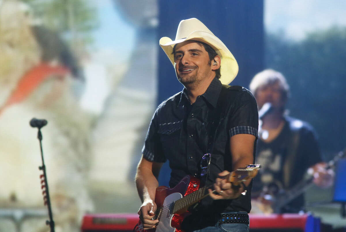 Brad Paisley performs May 2 at the iHeartRadio Country Festival held at the Frank Erwin Center in Austin. Paisley is one of the headliners for Gardendale's Texas Thunder Fest in August.