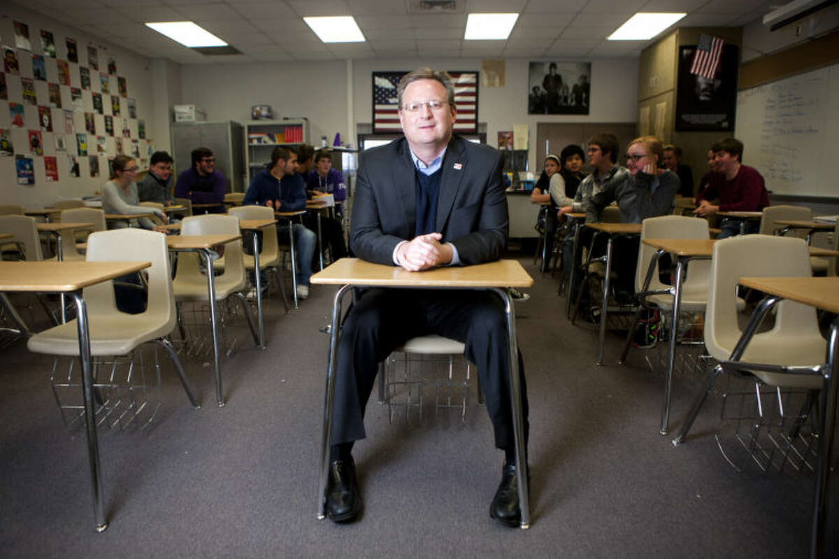 MISD Superintendent Ryder Warren in portrait Feb. 5, 2014 at Midland High School. James Durbin/Reporter-Telegram
