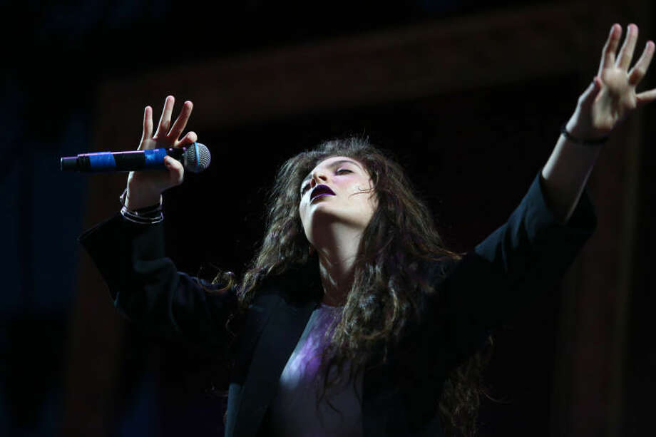 Lorde performs at the 2014 Coachella Music and Arts Festival on Saturday, April 19, 2014, in Indio, Calif. (Photo by Zach Cordner/Invision/AP) Photo: Zach Cordner