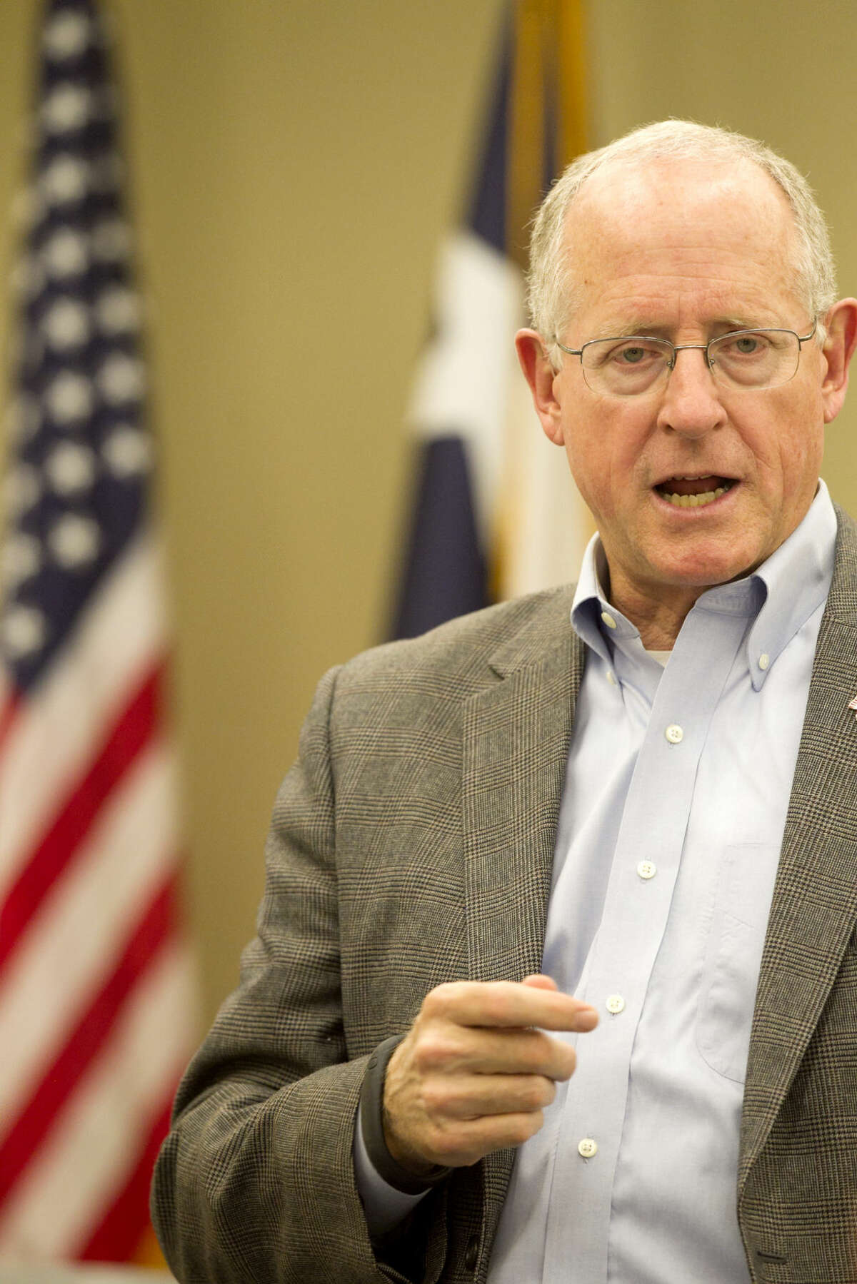 Congressman Michael Conaway (R-Texas) held a town hall meeting Wednesday at the Midland County Public Library Centennial branch. James Durbin/Reporter-Telegram