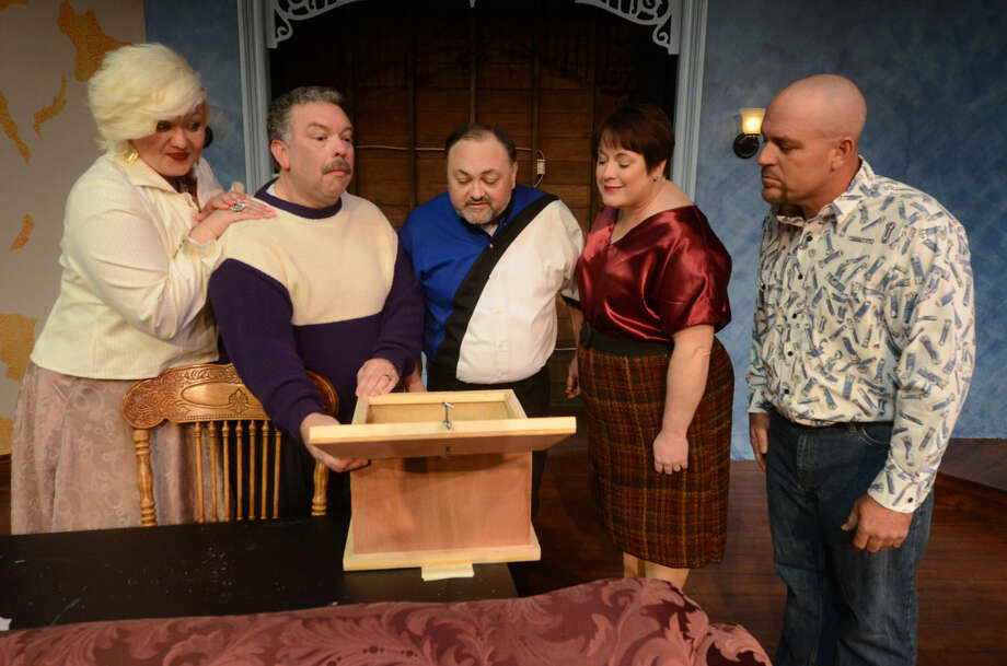From left to right, Amy Rydell, Daryl Berry, Darryl Bales, Jeri Morgan and Alan Roy star in the world premiere of the 2014 McLaren Comedy Festival winner 'Fixing Up' at Midland Community Theatre. Photo: James Durbin