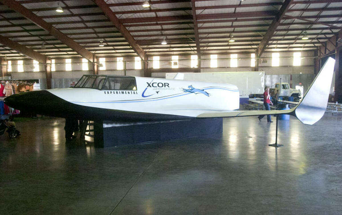 XCOR Experimental aircraft model on display at the Commemorative Air Force AirSho 2013 at Midland International Airport. James Durbin/Reporter-Telegram