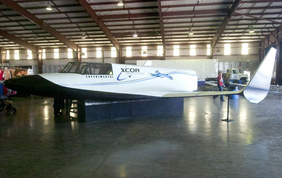 XCOR Experimental aircraft model on display at the Commemorative Air Force AirSho 2013 at Midland International Airport. James Durbin/Reporter-Telegram Photo: JAMES DURBIN
